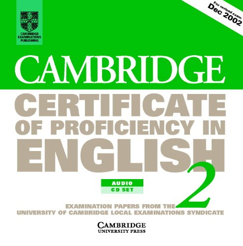 9780521751056: Cambridge Certificate of Proficiency in English 2 Audio CD Set (2 CDs): Examination papers from the University of Cambridge Local Examinations Syndicate (CPE Practice Tests)