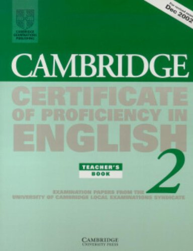 9780521751070: Cambridge Certificate of Proficiency in English 2 Teacher's Book: Examination papers from the University of Cambridge Local Examinations Syndicate (CPE Practice Tests)