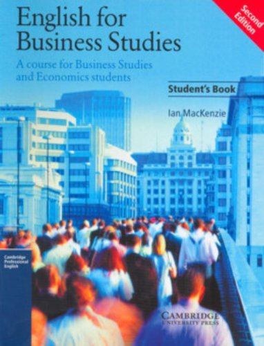 9780521752855: English for Business Studies Student's book: A Course for Business Studies and Economics Students