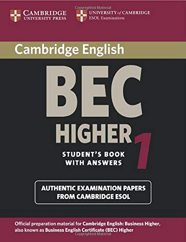9780521752893: Cambridge BEC Higher 1: Practice Tests from the University of Cambridge Local Examinations Syndicate (BEC Practice Tests)
