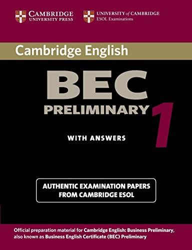 9780521753012: Cambridge BEC preliminary. Per gli Ist. tecnici e professionali: 1