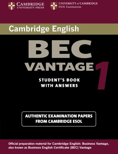 9780521753043: Cambridge BEC Vantage 1: Practice Tests from the University of Cambridge Local Examinations Syndicate