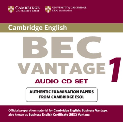 9780521753067: Cambridge BEC Vantage Audio CD Set (2 CDs): Practice Tests from the University of Cambridge Local Examinations Syndicate