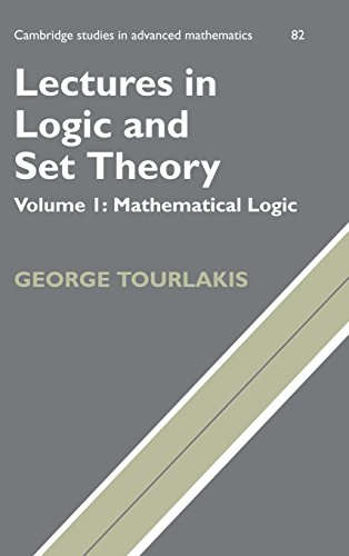9780521753739: Lectures in Logic and Set Theory. Volume I: Mathematical Logic (Cambridge Studies in Advanced Mathematics)