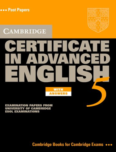 9780521754385: Cambridge Certificate in Advanced English 5 Self-Study Pack: Examination Papers from the University of Cambridge ESOL Examinations (CAE Practice Tests)
