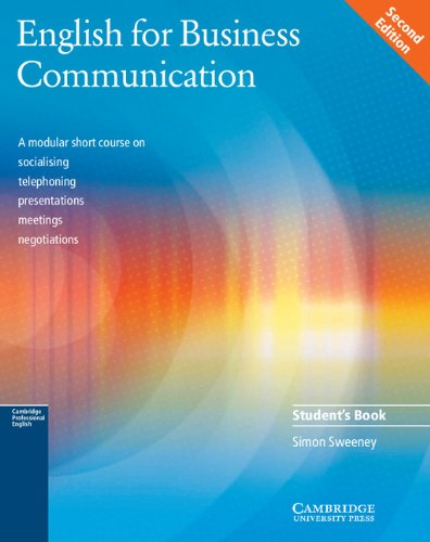 9780521754491: English for Business Communication Student's book