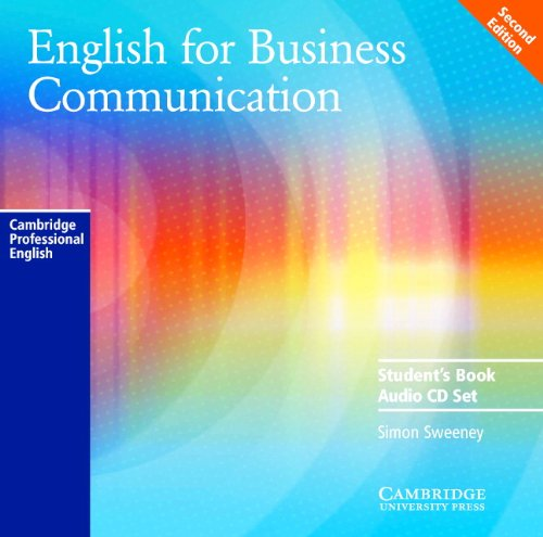 9780521754521: English for Business Communication Audio CD Set (2 CDs) (Cambridge Professional English)