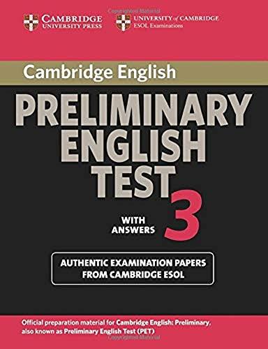 Cambridge Preliminary English Test 3 Student's Book: Cambridge ESOL