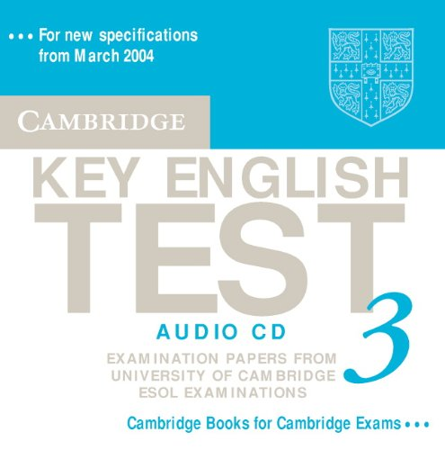 9780521754828: Cambridge Key English Test 3 Audio CD: Examination Papers from the University of Cambridge ESOL Examinations (KET Practice Tests)