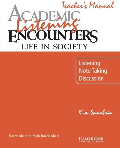 9780521754842: Academic Listening Encounters Life in Society: Listening, Note Taking, Discussion Teacher's Manual