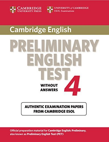 9780521755276: Cambridge Preliminary English Test 4 Student's Book: Examination Papers from the University of Cambridge ESOL Examinations (PET Practice Tests)