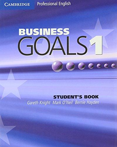 9780521755375: Business Goals 1 Student's Book (Cambridge Professional English)