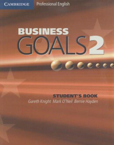 9780521755412: Business goals. Student's book. Con espansione online. Per le Scuole superiori: 2
