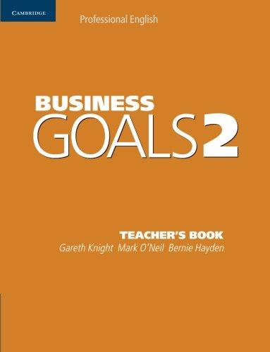 9780521755429: Business Goals 2 Teacher's Book