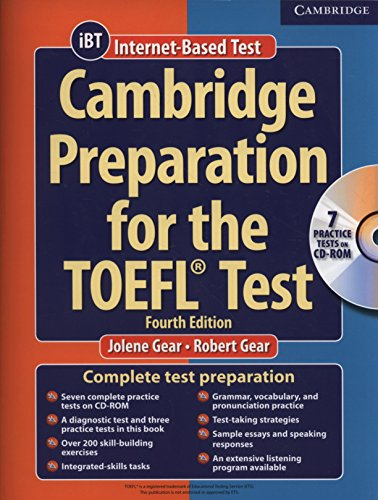 9780521755849: Cambridge Preparation for the TOEFL� 4th Test Book with CD-ROM (Cambridge Preparation for the TOEFL Test)