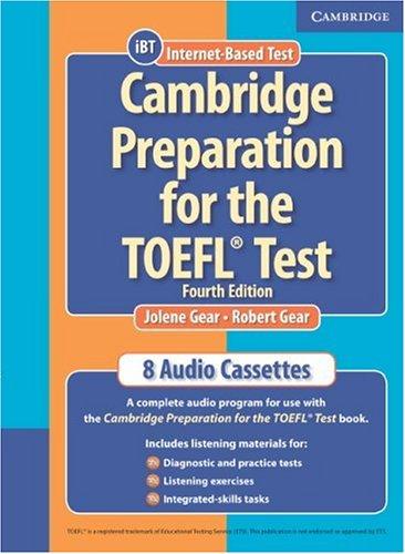 9780521755863: Cambridge Preparation for the TOEFL® Test Audio Cassettes (Cambridge Preparation for the TOEFL Test)