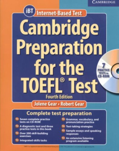 9780521755870: Cambridge Preparation for the TOEFL® 4th Test Book with CD-ROM and Audio CDs Pack (Cambridge Preparation for the TOEFL Test (W/CD & CD-ROM))