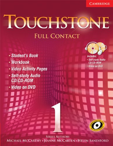 9780521757379: Touchstone Level 1 Full Contact (with NTSC DVD) (No. 1)
