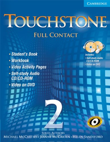 9780521757409: Touchstone Level 2 Full Contact (with NTSC DVD) (No. 2)