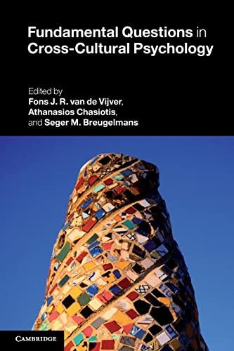 Fundamental Questions in Cross-cultural Psychology (Paperback): Fons Van De Vijver