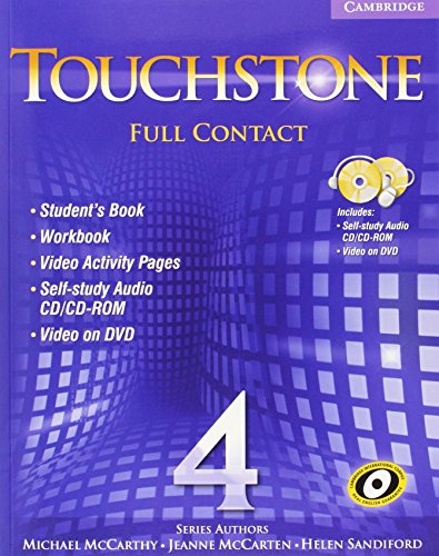 9780521757751: Touchstone Level 4 Full Contact (with NTSC DVD) (No. 4)
