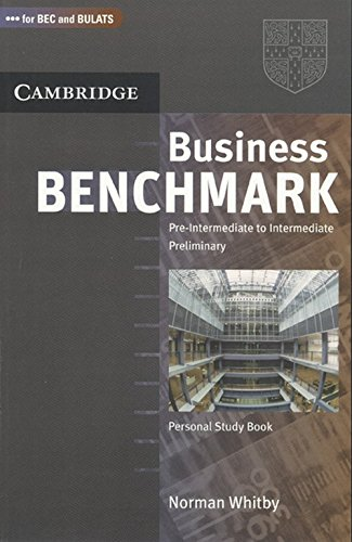 9780521758963: Business Benchmark Pre-Intermediate to Intermediate Preliminary Personal Study Book for Bec and Bulats South Asian Edition