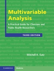 9780521760980: Multivariable Analysis 3rd Edition Hardback (Cambridge Medicine)