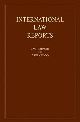 International Law Reports: Volume 136 (Hardcover): Elihu Lauterpacht