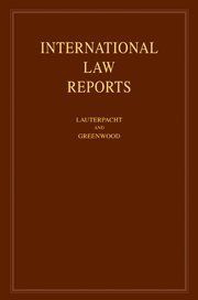 International Law Reports: Volume 137 (Hardcover): Elihu Lauterpacht