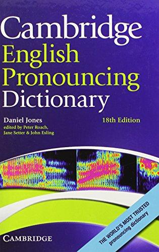 9780521765756: Cambridge English Pronouncing Dictionary 18th Hardback