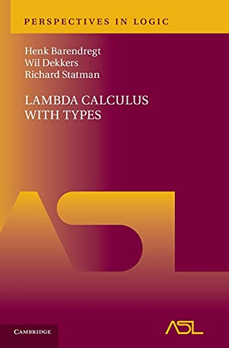 9780521766142: Lambda Calculus with Types (Perspectives in Logic)