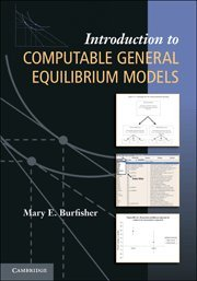 9780521766968: Introduction to Computable General Equilibrium Models Hardback