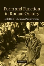 9780521768955: Form and Function in Roman Oratory
