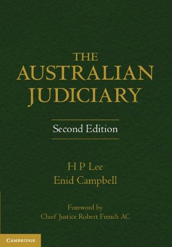 The Australian Judiciary (Hardcover): Enid Campbell