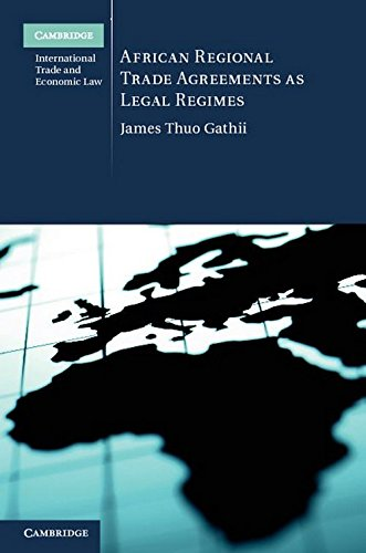 9780521769839: African Regional Trade Agreements as Legal Regimes (Cambridge International Trade and Economic Law)