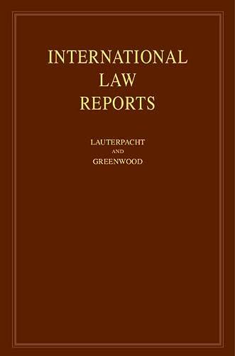 9780521769945: International Law Reports (Volume 145)