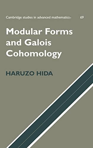 9780521770361: Modular Forms and Galois Cohomology (Cambridge Studies in Advanced Mathematics)