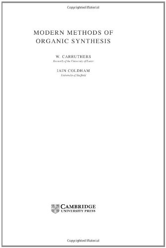 9780521770972: Modern Methods of Organic Synthesis
