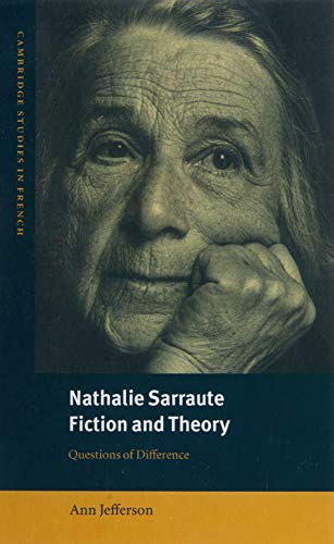 9780521772112: Nathalie Sarraute, Fiction and Theory: Questions of Difference