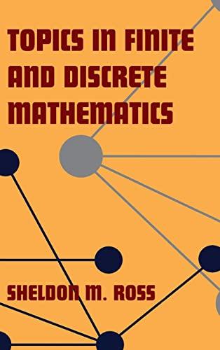 9780521772594: Topics in Finite and Discrete Mathematics