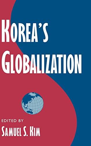 9780521772723: Korea's Globalization (Cambridge Asia-Pacific Studies)