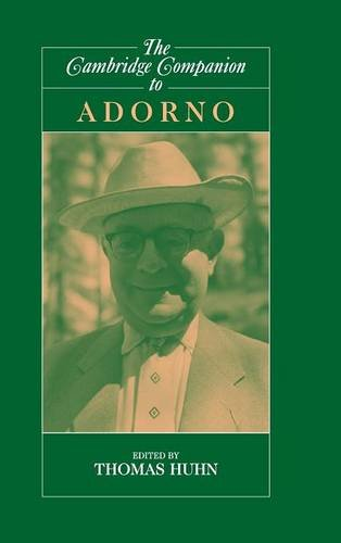9780521772891: The Cambridge Companion to Adorno (Cambridge Companions to Philosophy)