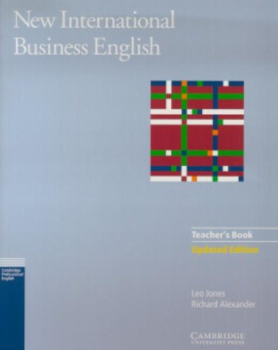 9780521774710: New International Business English Updated Edition Teacher's Book: Communication Skills in English for Business Purposes