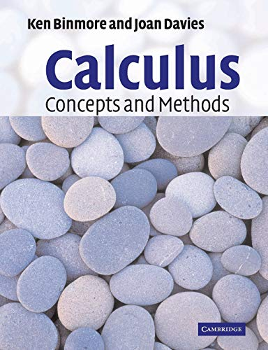9780521775410: Calculus: Concepts and Methods
