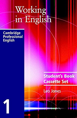 9780521776820: Working in English Audio Cassette Set (2 Cassettes) (Cambridge Professional English)