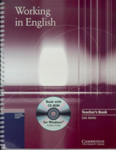 9780521776837: Working in English Teacher's Book with CD-ROM (Cambridge professional English)