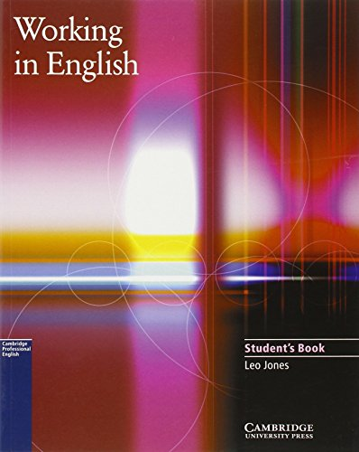 9780521776844: Working In English. Student's Book (Cambridge Professional English)