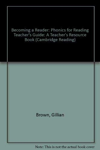 9780521777827: Becoming a Reader: Phonics for Reading Teacher's Guide: A Teacher's Resource Book (Cambridge Reading)