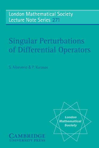 Singular Perturbations of Differential Operators: Solvable Schrödinger-type: S. Albeverio, P.