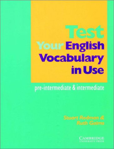 9780521779807: Test your English Vocabulary in Use: Pre-intermediate and Intermediate